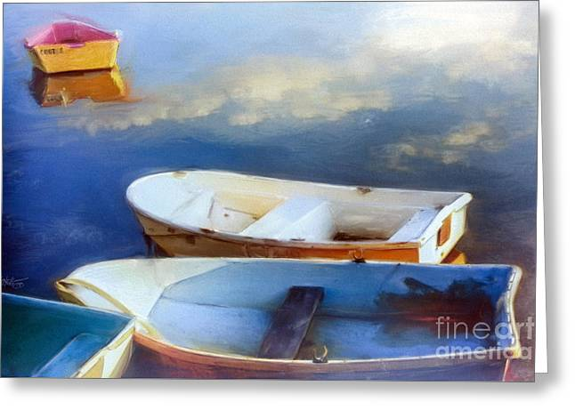 Bayside... Cape Cod Mass Greeting Card by Mark Tonelli