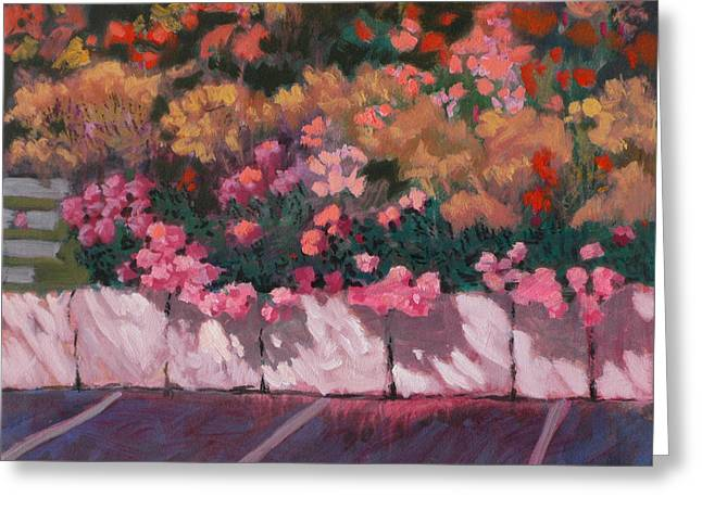 Bayside Flowers Greeting Card by Robert Bissett