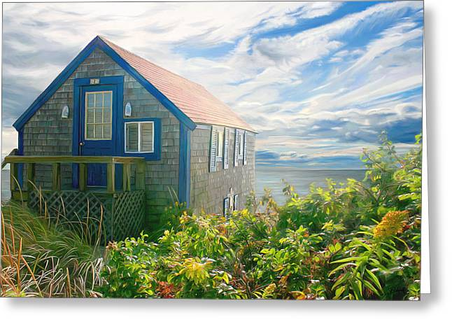 Bayside Retreat Greeting Card by Sue  Brehant
