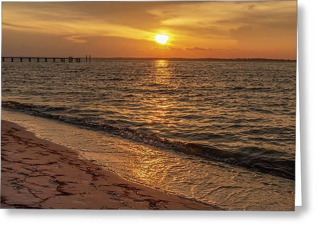 Bayside Sunset Greeting Card