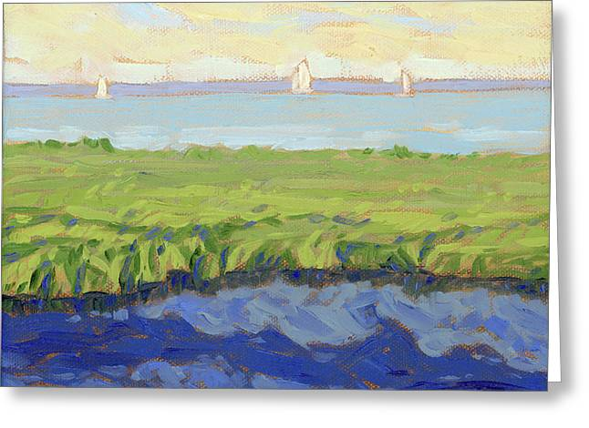 Bayside Greeting Card by Tom Taneyhill
