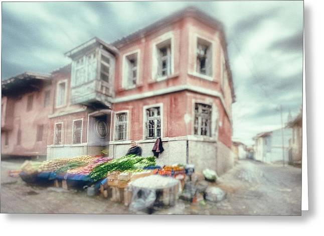 Bazaar Greeting Card by Okan YILMAZ
