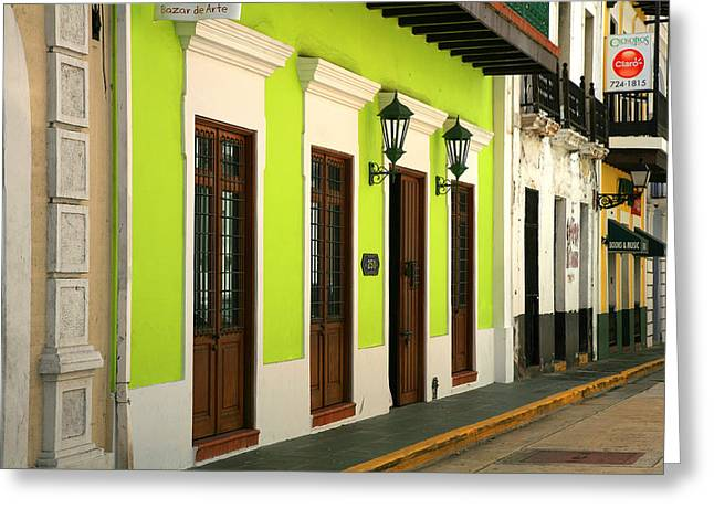 Colonial Building Greeting Cards - Bazar de Arte Greeting Card by Timothy Johnson
