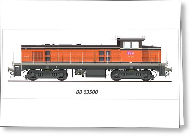 Bb 63500 Locomotive Greeting Card