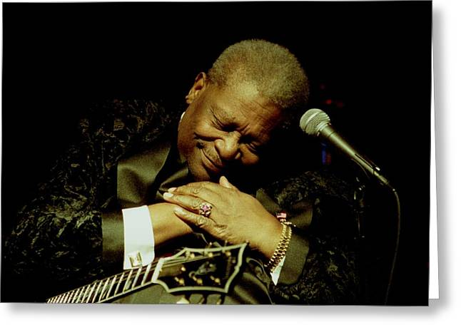Bb King - Straight From The Heart Greeting Card by Bob Guthridge
