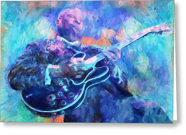 Bb King Greeting Card by Dan Sproul