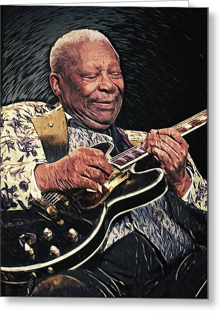 B.b. King II Greeting Card