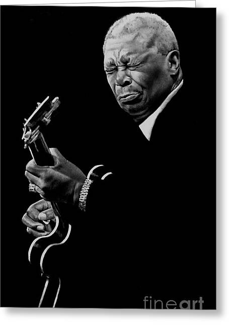 B.b. King Greeting Card by Jerry Lee