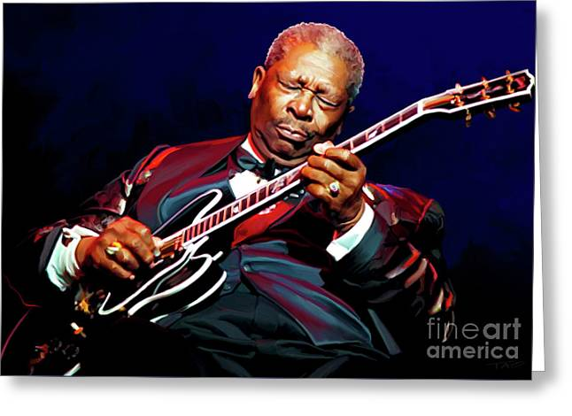 Bb King Greeting Card by Paul Tagliamonte