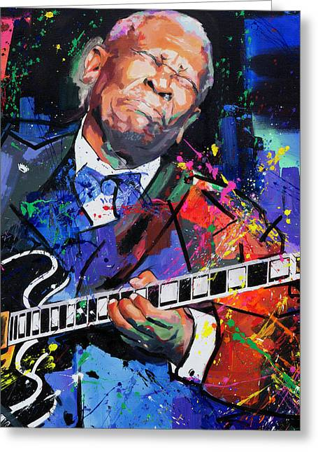 Bb King Portrait Greeting Card by Richard Day