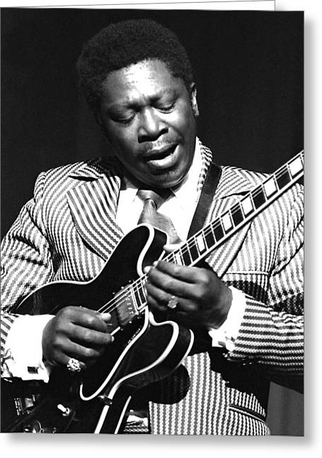 Bb King - Strummin' Greeting Card