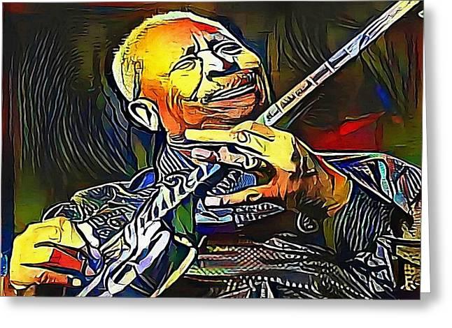 B.b. King - My Www Vikinek-art.com Greeting Card by Viktor Lebeda