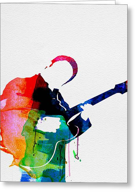 B.b. King Watercolor Greeting Card