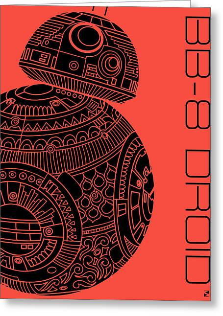 Bb8 Droid - Star Wars Art, Red Greeting Card