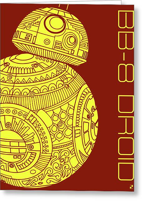 Bb8 Droid - Star Wars Art Greeting Card