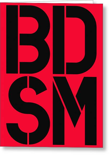 Bdsm Red And Black Greeting Card