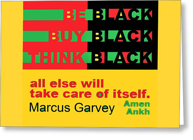 Be Black Rbg Greeting Card