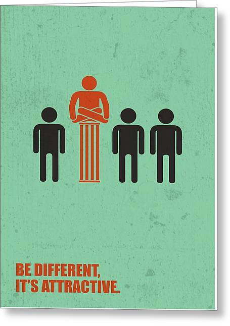 Be Different It's Attractive Business Quotes Poster Greeting Card by Lab No 4