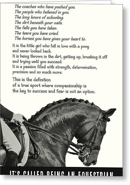 Be Equestrian Quote Greeting Card