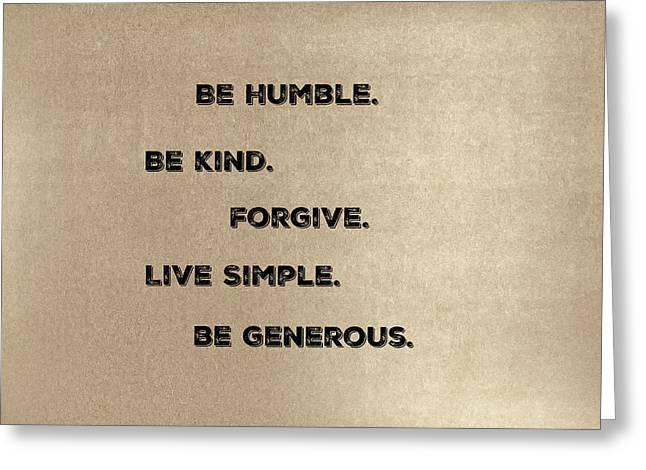 Be Generous Greeting Card