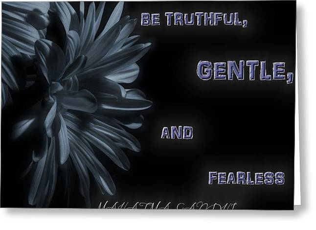 Be Gentle Greeting Card by Dan Sproul