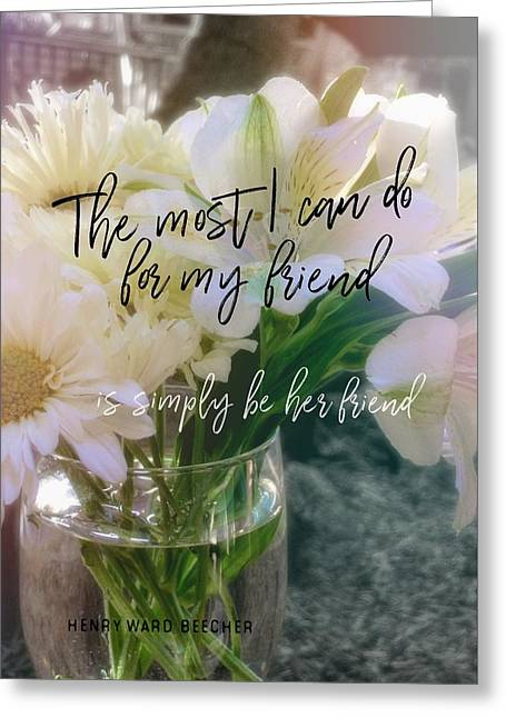 Be Gentle Quote Greeting Card by JAMART Photography