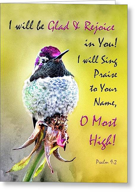 Be Glad And Rejoice Greeting Card