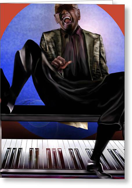 Be Good To Ya - Ray Charles Greeting Card by Reggie Duffie