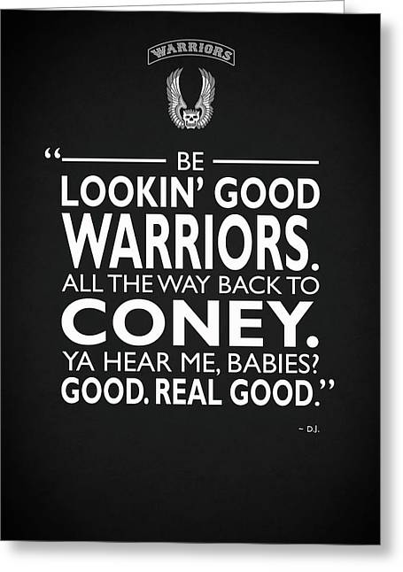 Be Lookin Good Warriors Greeting Card