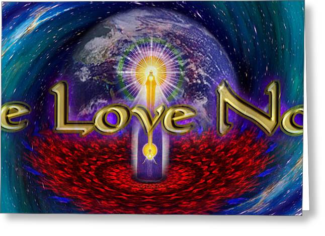 Be Love Now Greeting Card by Richard Copeland