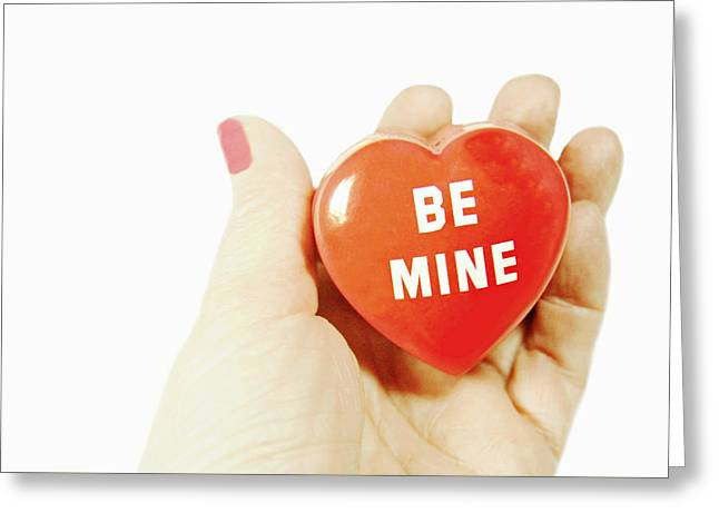 Be Mine Greeting Card by Diana Angstadt