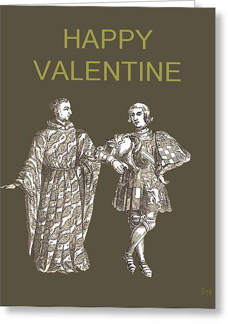 Be My Valentine Two Men Greeting Card by Eric Kempson