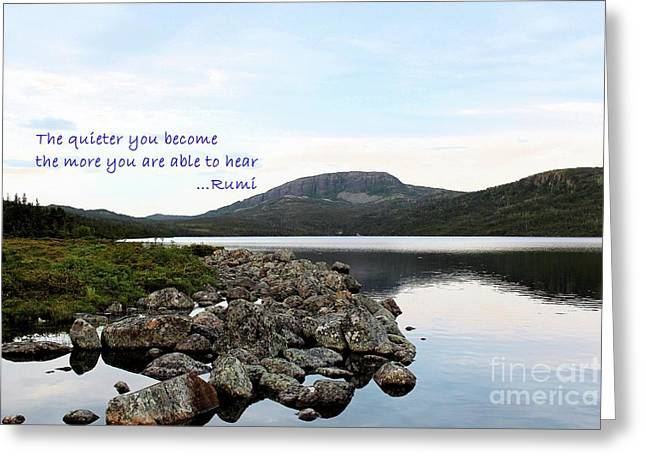 Be Quiet Hear More Greeting Card