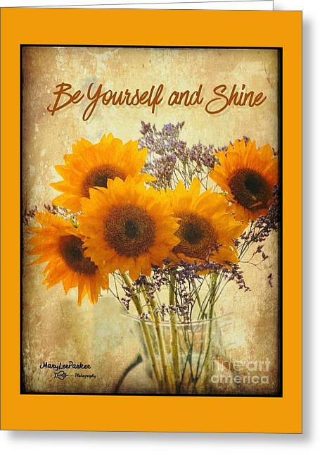 Be Yourself And Shine Greeting Card