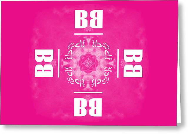 Be Yourself Pink Greeting Card by Methune Hively
