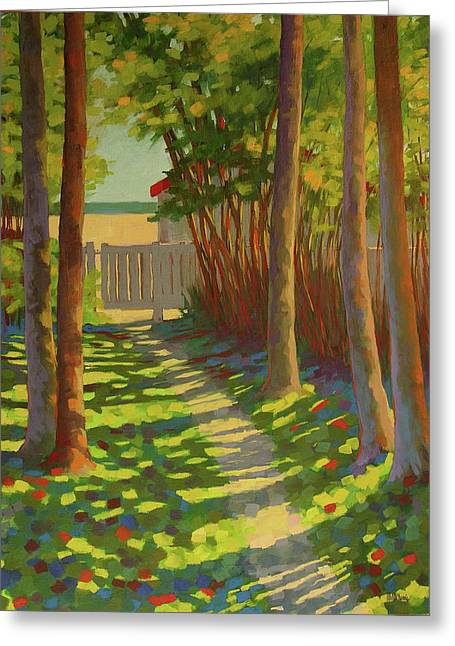 Beach Access Greeting Card by Mary McInnis
