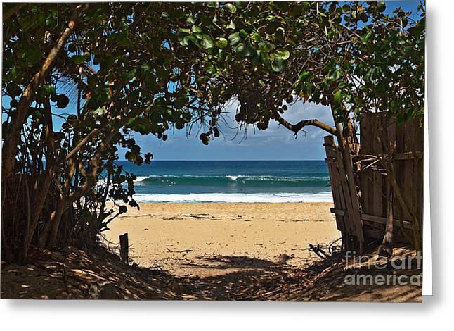 Beach Access Pupukea Greeting Card