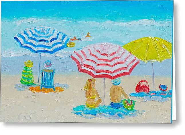 Beach Art - Balmy Summers Day Greeting Card by Jan Matson