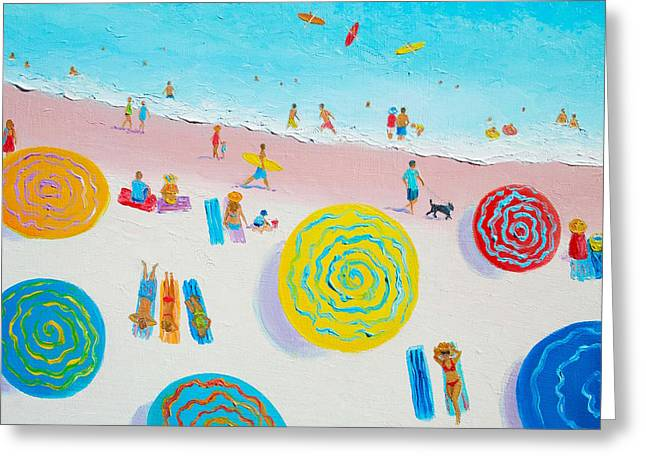 Beach Art - Beach Sport Greeting Card by Jan Matson