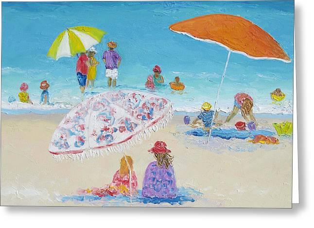 Beach Art - Beach Vacation Greeting Card by Jan Matson