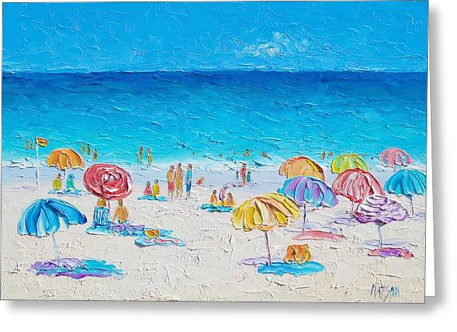 Beach Art - First Day Of Summer Greeting Card by Jan Matson