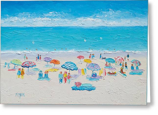 Beach Art - Fun In The Sun Greeting Card by Jan Matson