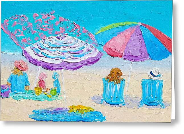 Beach Art - Lazy Summer Day Greeting Card by Jan Matson