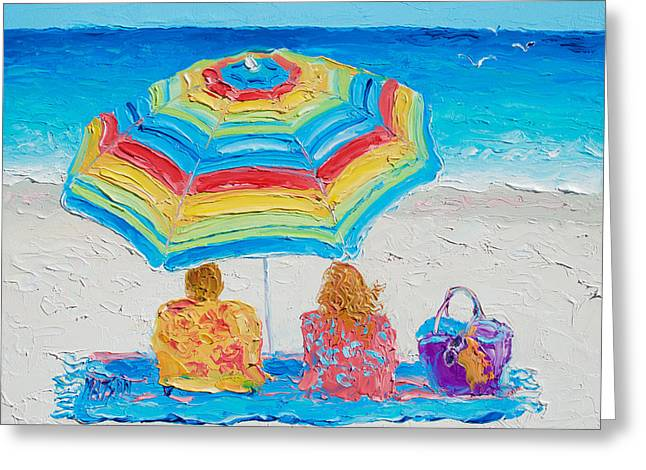 Beach Art - Perfect Day Greeting Card by Jan Matson