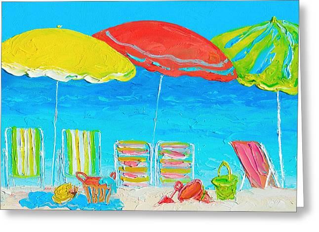 Beach Art - Summer Days Are Here Again Greeting Card