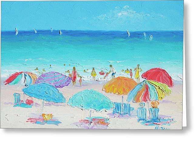 Beach Art - Summer Greeting Card