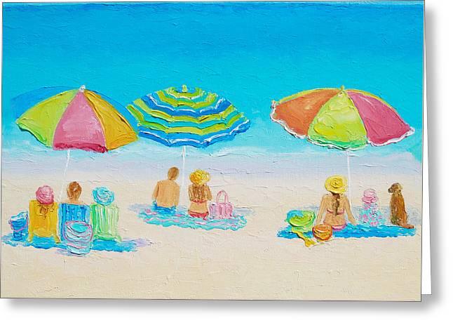 Beach Art - Summer Paradise Greeting Card by Jan Matson