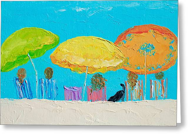 Beach Art - Sunny Day Greeting Card by Jan Matson