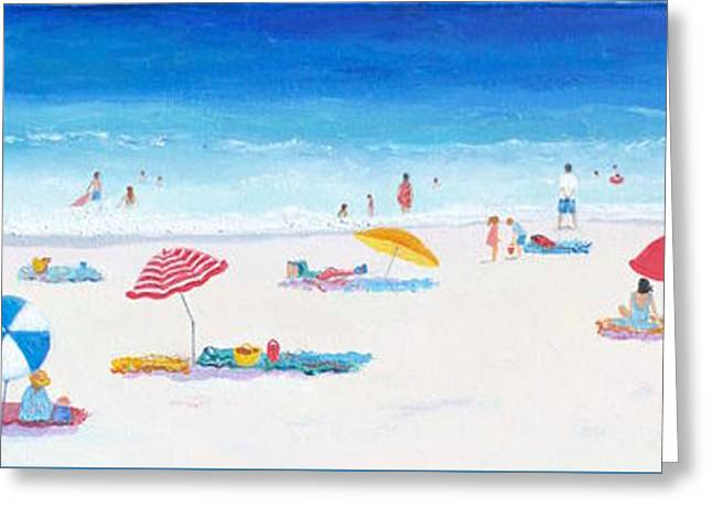 Beach Art - Very Long Hot Summer Greeting Card by Jan Matson