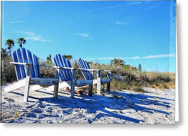 Beach Art - Waiting For Friends - Sharon Cummings Greeting Card